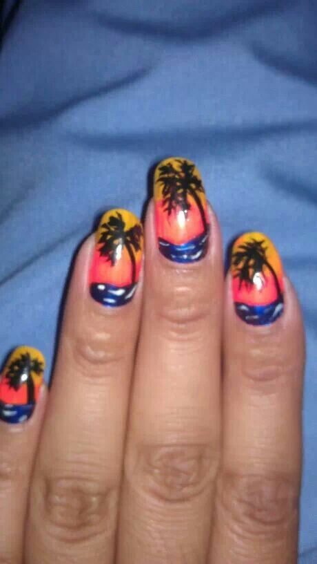 Luau Nails These R Fun