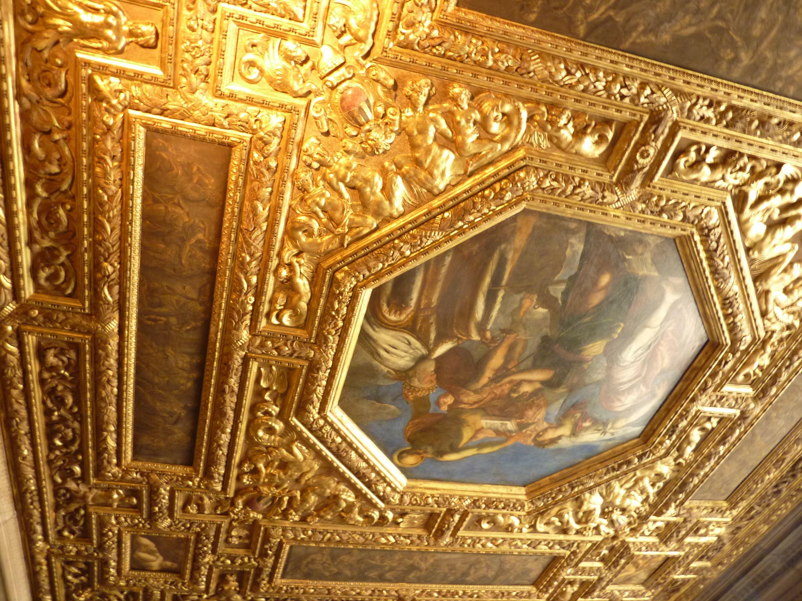 Plafond escalier d'Or - Venise
