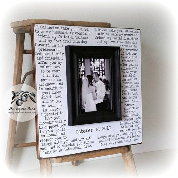 Wedding Vows Framed Anniversary Gift First Song