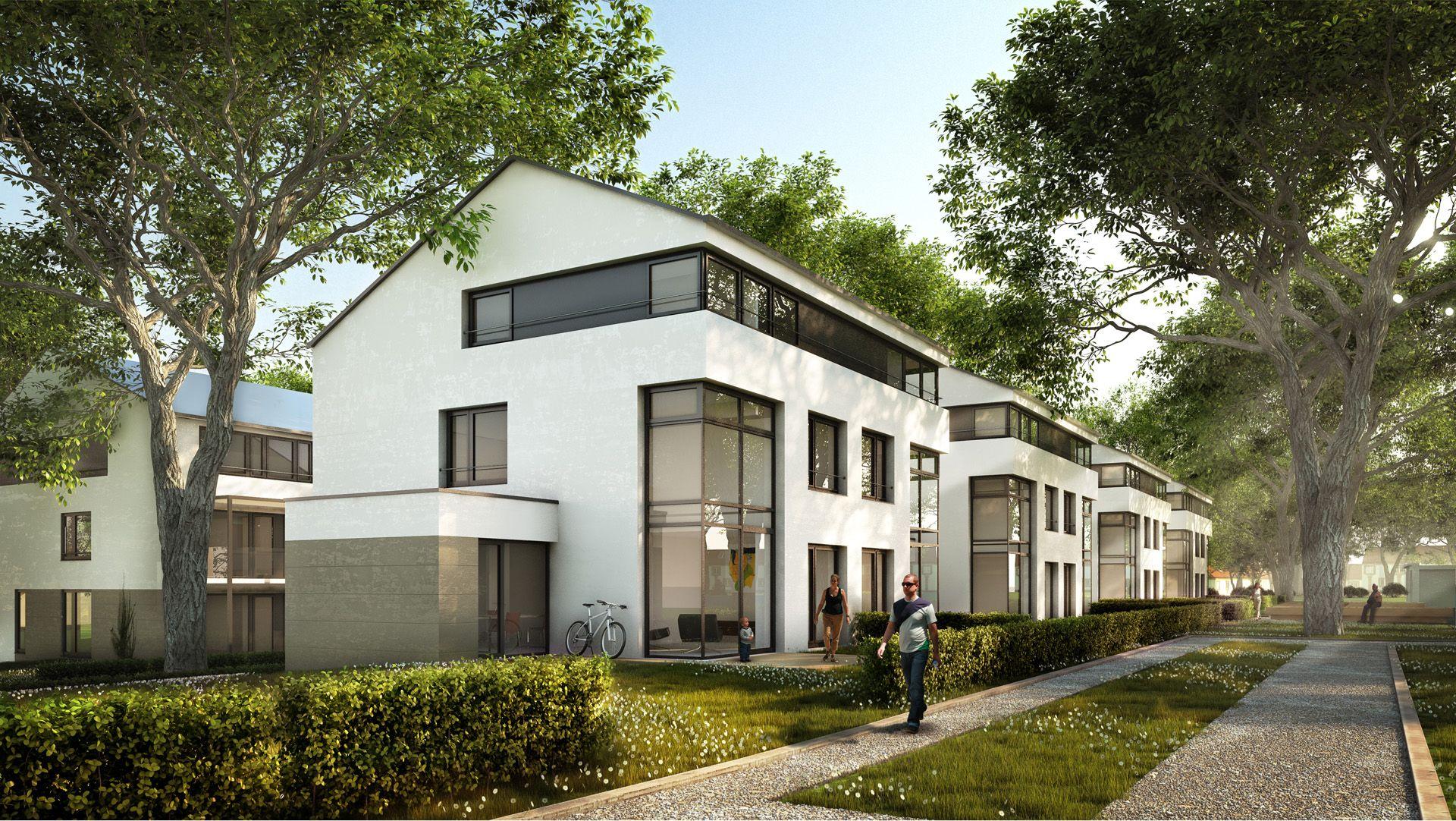 xoio gestaltet 3d visualisierung landschaftsplanung und architektur des wohnungsbauprojektes. Black Bedroom Furniture Sets. Home Design Ideas