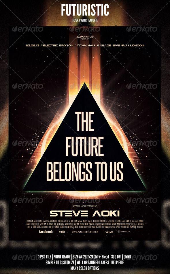Futuristic Flyer  Poster   Futuristic Flyer Design Templates