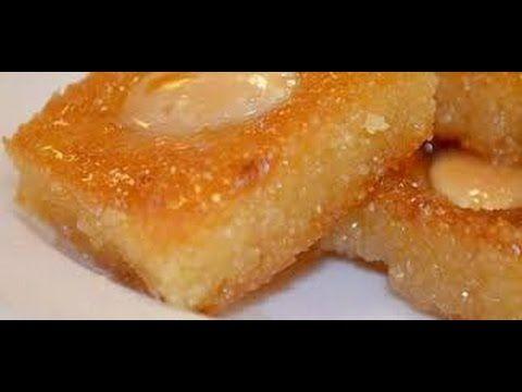 حلويات رمضان انجح طريقه لعمل البسبوسه زي المحلات Youtube Food Arabic Dessert Basbousa Recipe