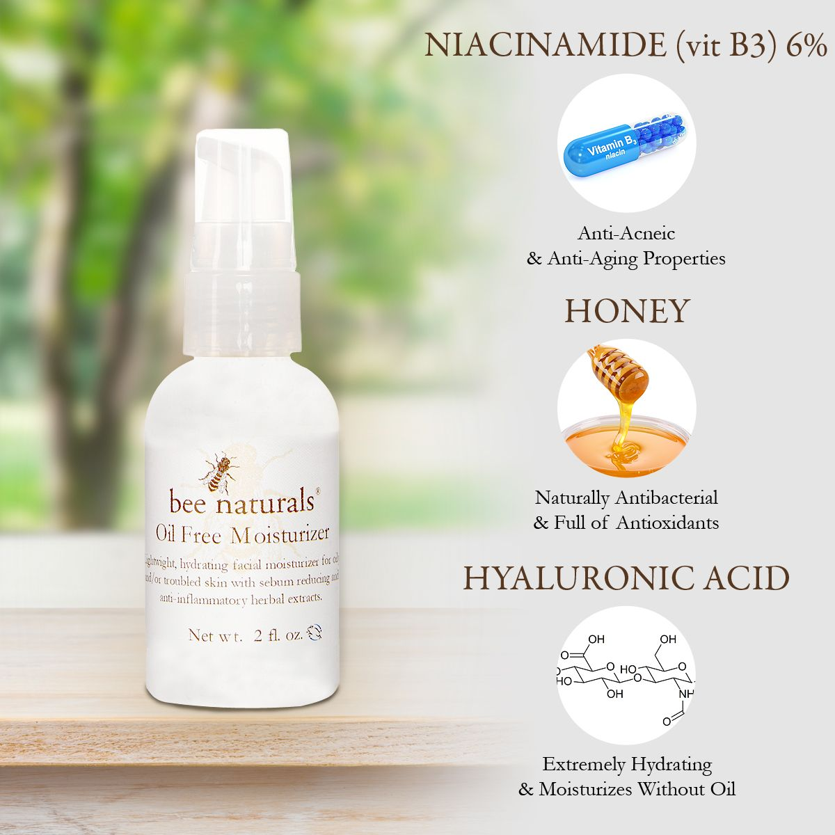 Oil Free Moisturizer I OilFree, Hydrating, Soothing