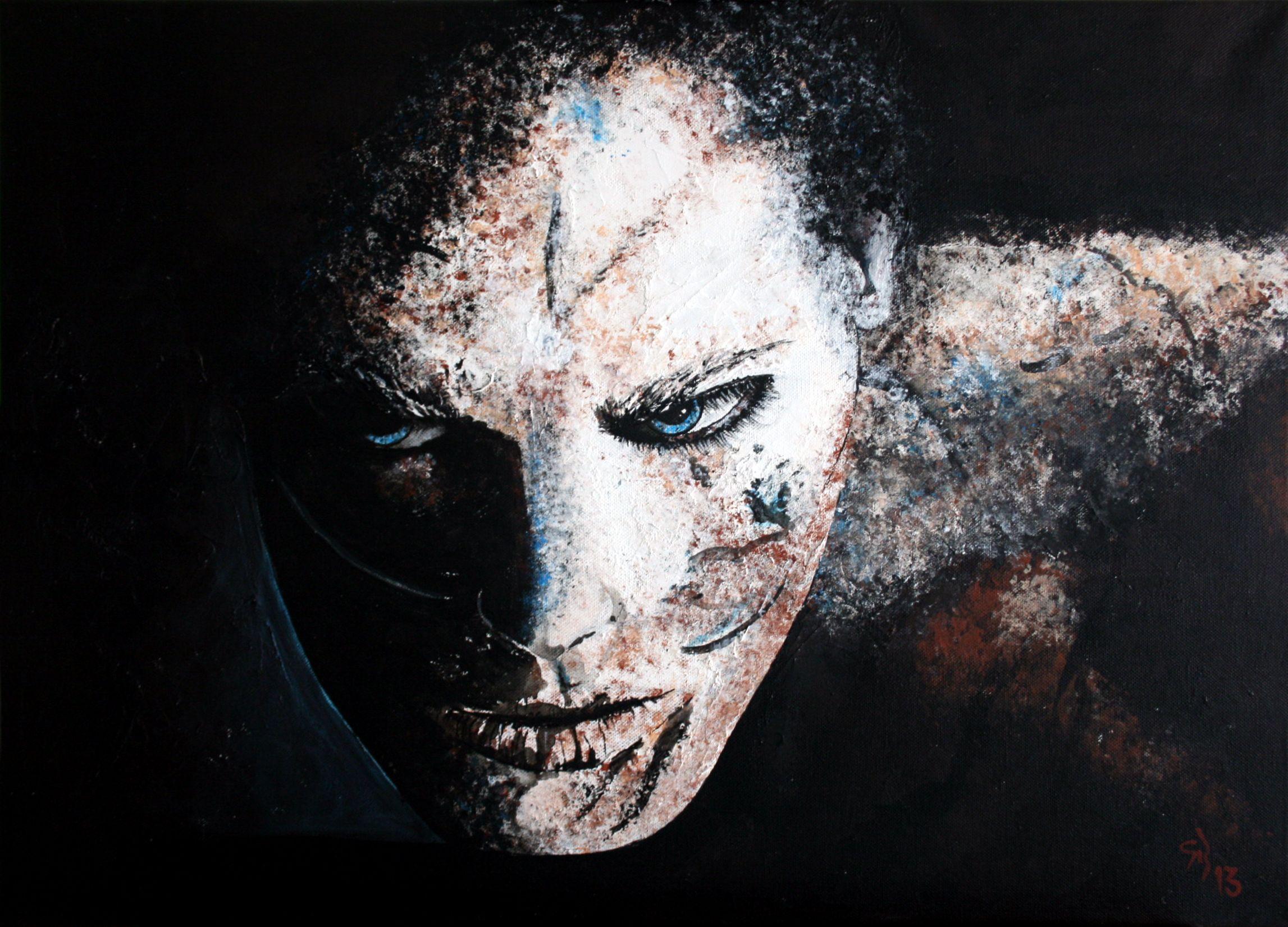 Shadow.Man. 70x50 cm. Acryl auf Leinwand.