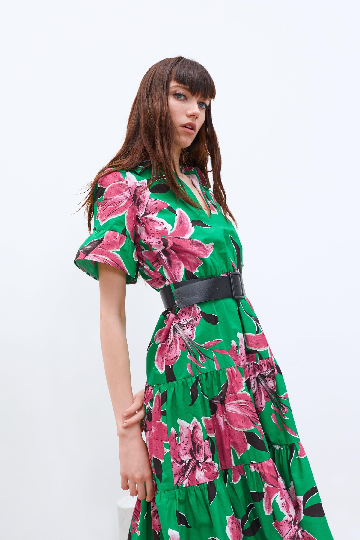 Floral print belted dress dresses belted dress floral