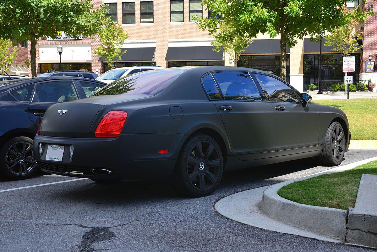 Matte Black Bentley Flying Spur Atlanta Streets Black Bentley Bentley Flying Spur Bentley
