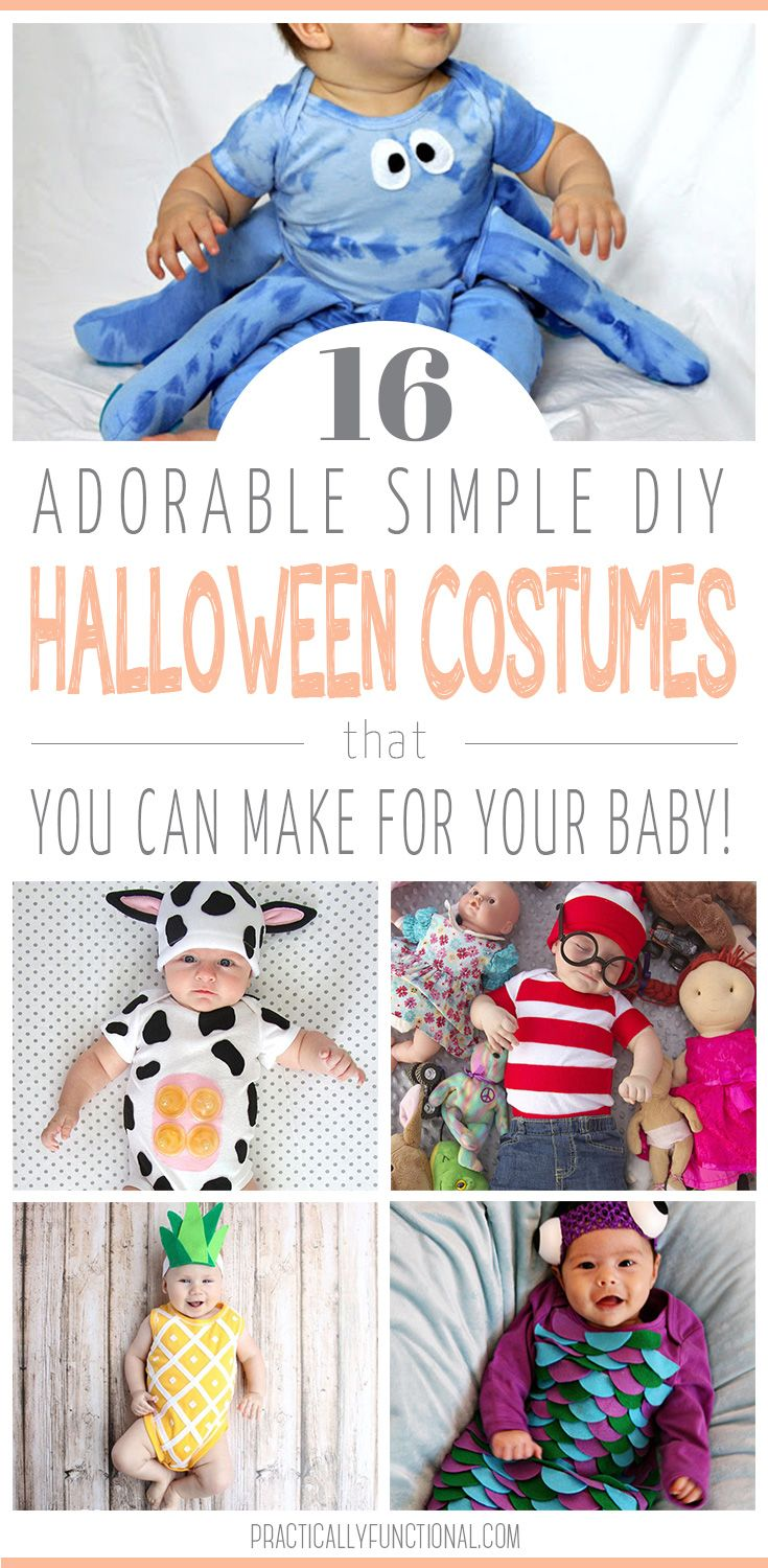 16 adorable simple diy baby halloween costumes baby halloween dress your baby up for halloween in one of these easy and cute diy baby halloween costumes these easy halloween costumes are a breeze to make and perfect solutioingenieria Image collections
