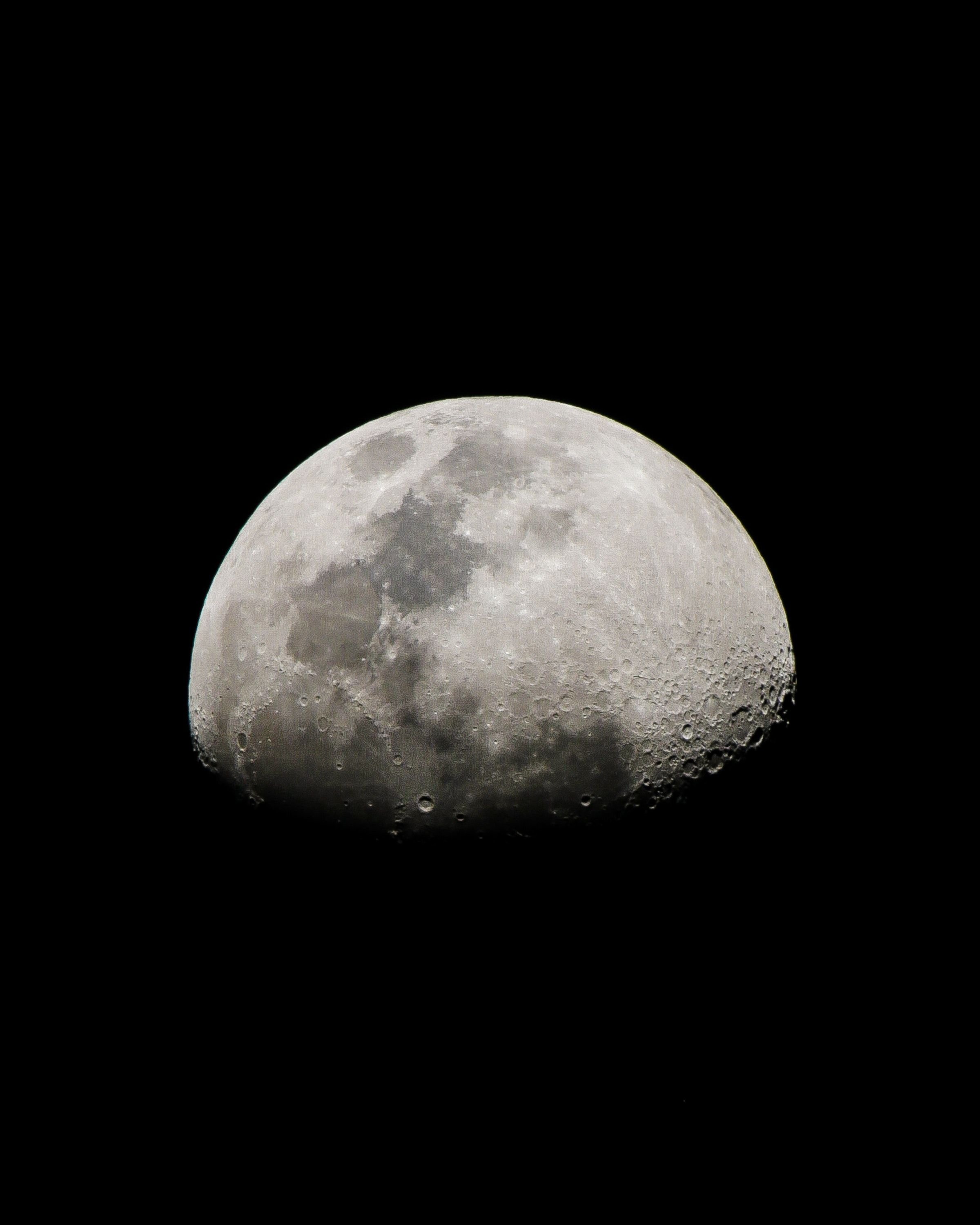 Space moon, sky, crater, night, dark android wallpapers