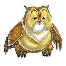 Картинка анимашка совы, день