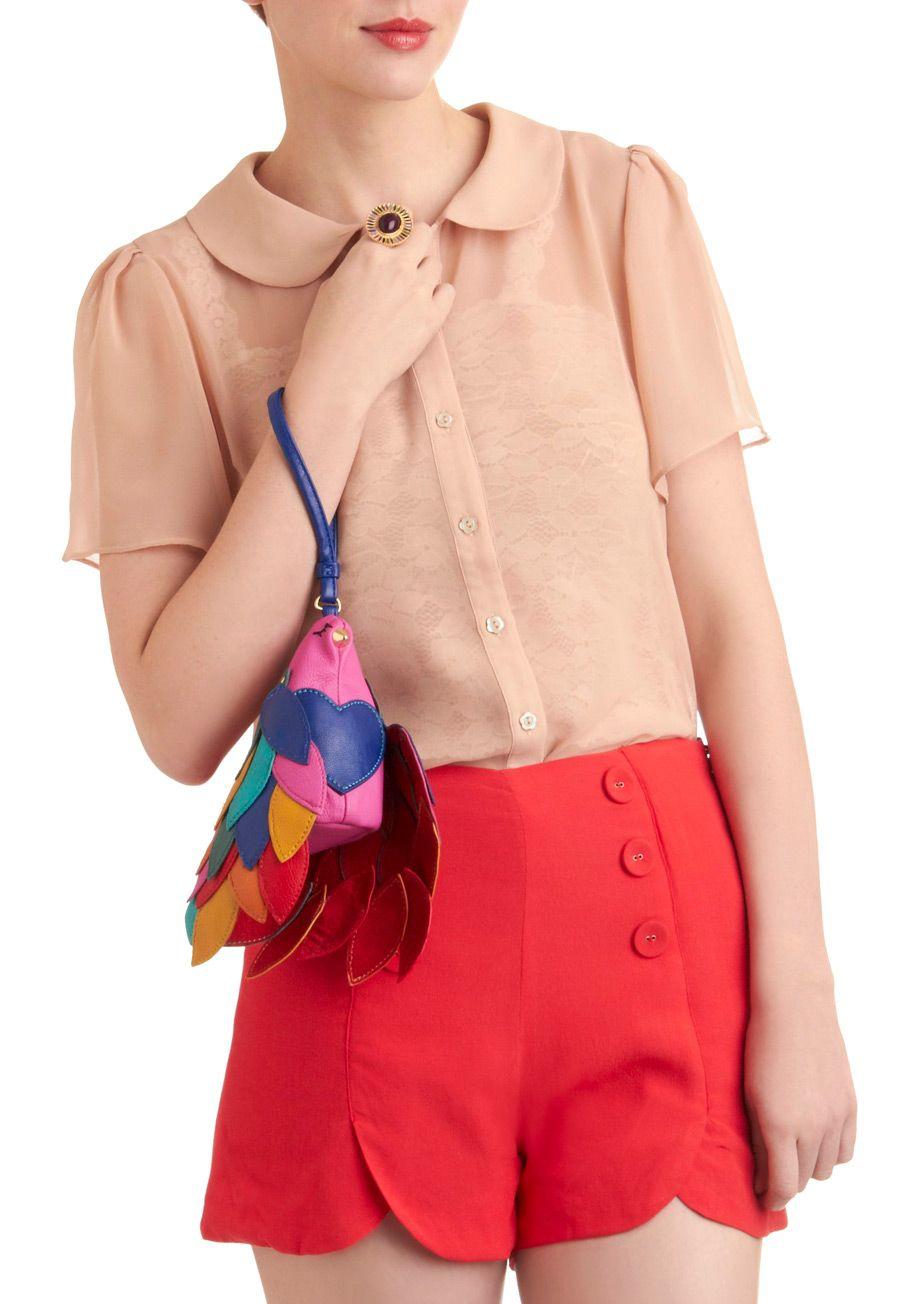 Betsey Johnson Let's Wing It Clutch | Mod Retro Vintage Bags | ModCloth.com