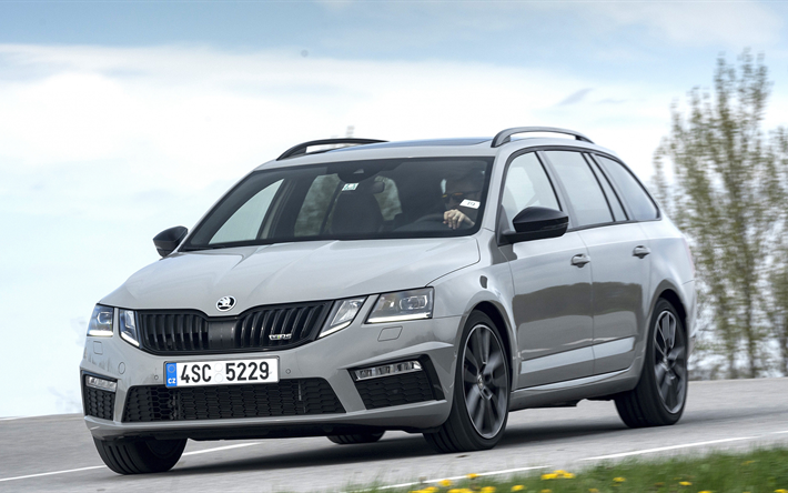 download wallpapers 4k skoda octavia rs combi 2018 cars movement road skoda cars car. Black Bedroom Furniture Sets. Home Design Ideas