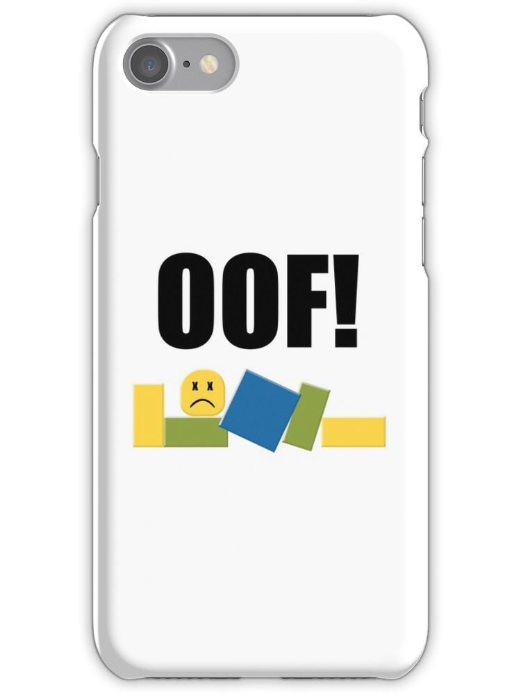 Roblox Oof! iPhone 7 Snap Case | Products | Roblox oof, Iphone cases