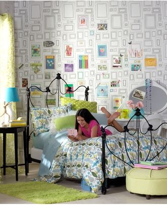 Wallpaper Graham Brown Frames Black And White Great For A Kid S Room Because You Can Color Decorate Customize It
