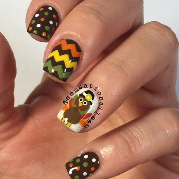 21 amazing thanksgiving nail art ideas thanksgiving nail art 21 amazing thanksgiving nail art ideas prinsesfo Images