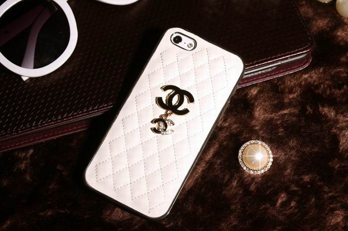 Fabuleux Chanel iphone 6 Case Designs Luxury leather Cover Sling white  YN85