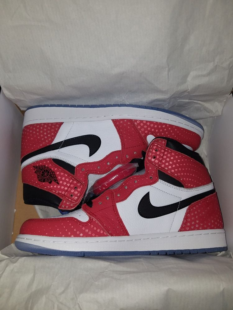 f52ad49801a NEW Air Jordan 1 Retro High OG Spider Man Origin Story Size 10 555088-602  #fashion #clothing #shoes #accessories #mensshoes #athleticshoes (ebay link)