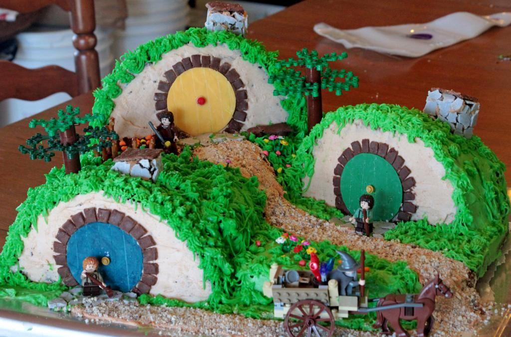 Hobbit Cake   Hobbit cake, The hobbit, 7th birthday party ...