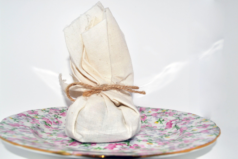 Dried Lavender Potpourri Muslin Sachet Baby Bridal Shower Favors