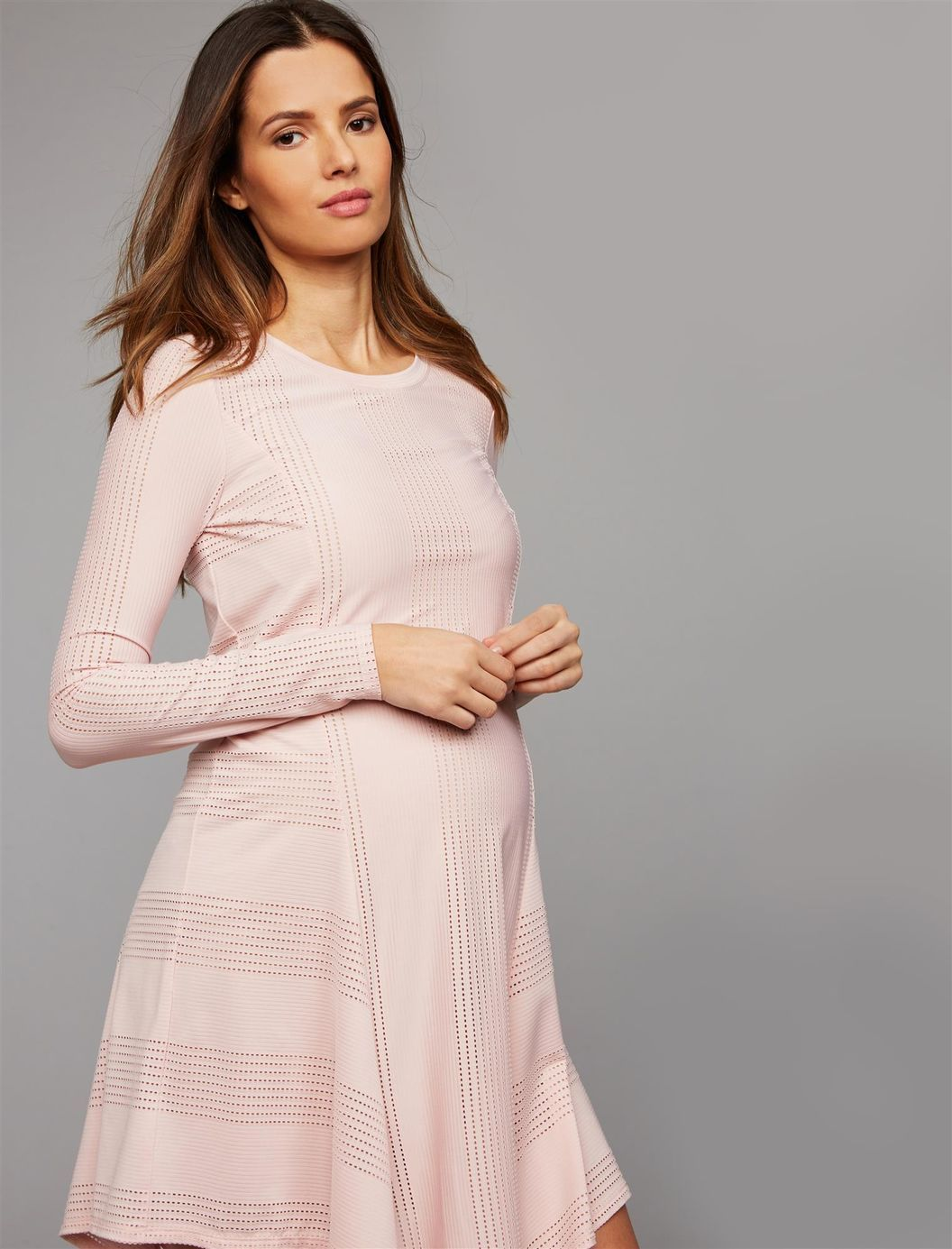 b0a5119f8efe5 BCBGMAXAZRIA Hanky Hem Maternity Dress | A Pea in the Pod Maternity ...