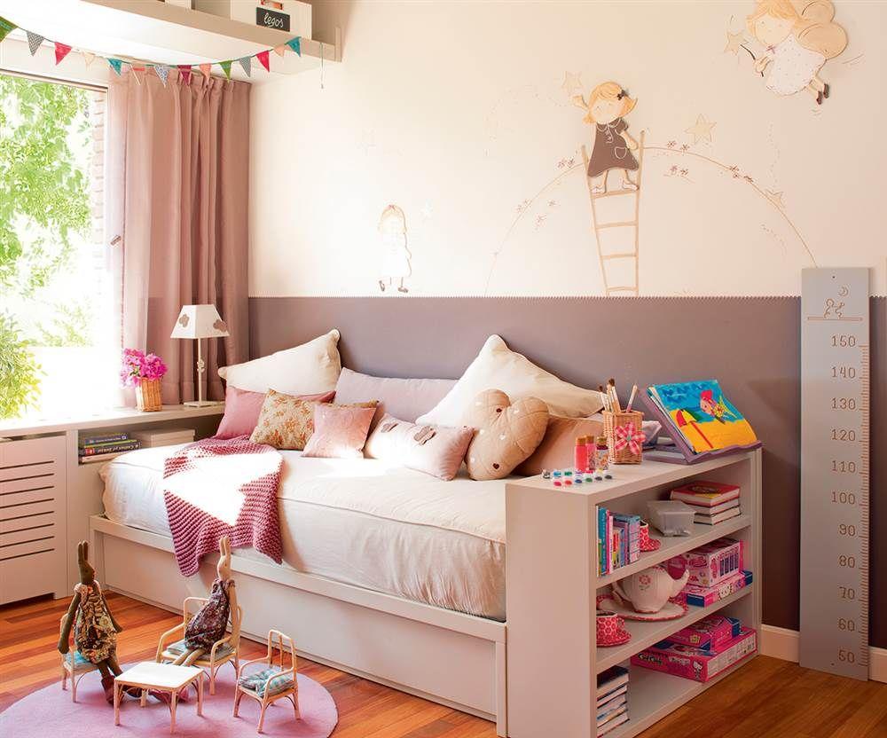 Cama nido y estantes   Aprovechado, Juguetes y Dormitorios infantiles