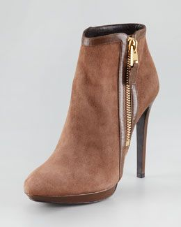 903d6ecad45 Women s Premier Designer Shoes at Neiman Marcus. Tom Ford Leather-Panel  Suede Bootie
