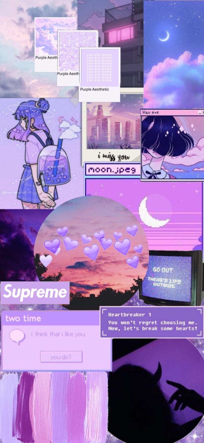 Papier Peint Collage Esthetique Violet Purple Wallpaper Iphone Purple Wallpaper Purple Wallpaper Hd
