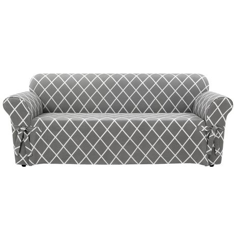 Remarkable Surefit Sure Fit Lattice Sofa Slipcover Slate 1 In 2019 Squirreltailoven Fun Painted Chair Ideas Images Squirreltailovenorg