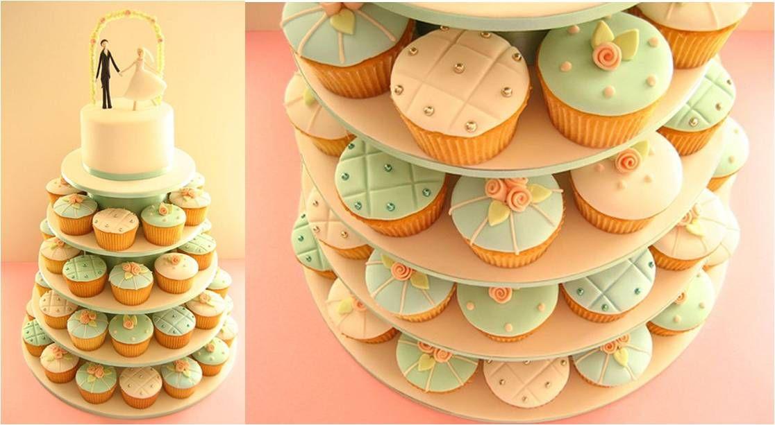 Cupcake wedding cake   Si quiero!   Pinterest   Cupcake wedding ...