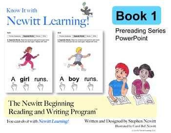 Newitt Book 1 PowerPoint: Separate Words in Sentences (Prereading Series)