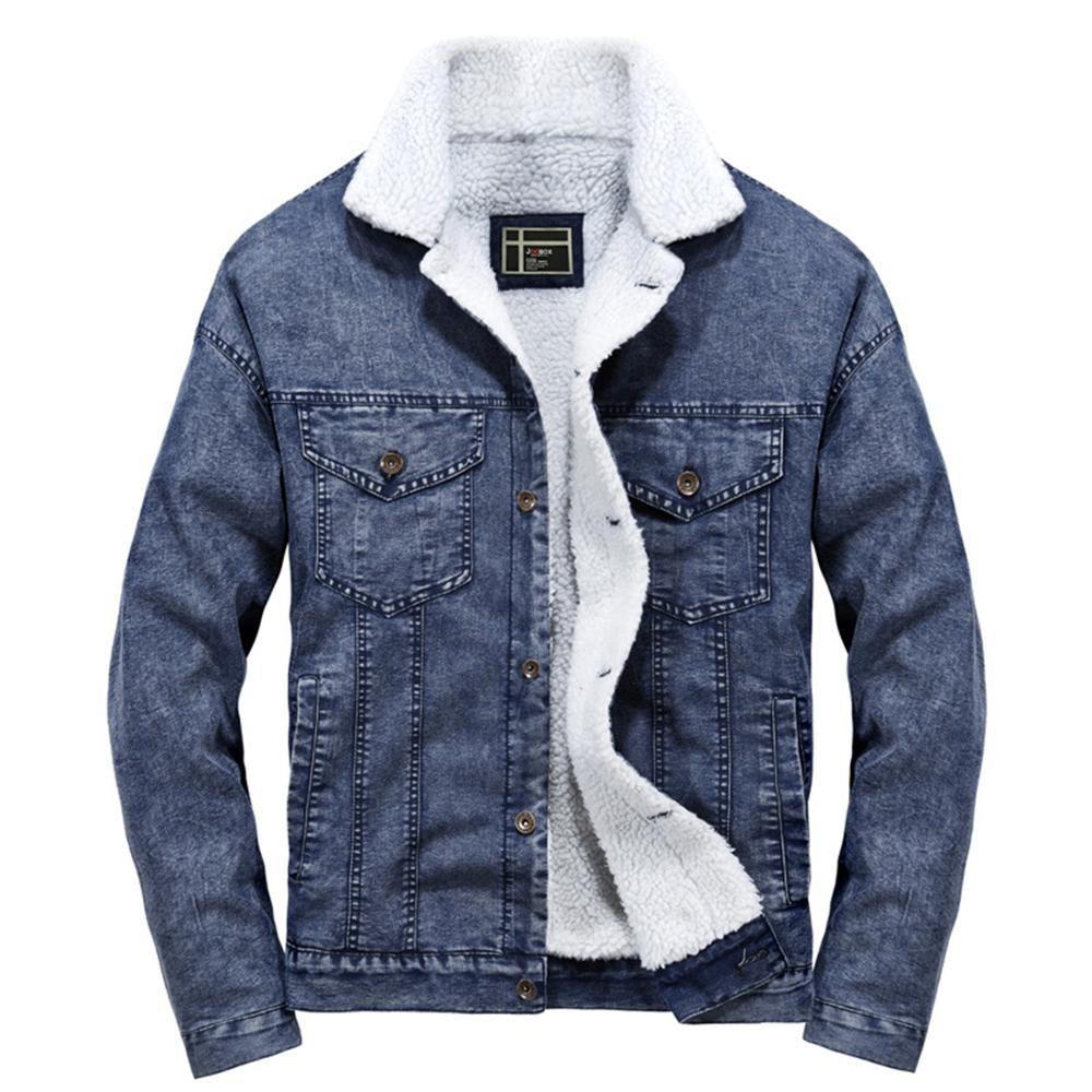 Men S Winter Casual Denim Jacket Warm Coat Kleidung Just For You [ 1000 x 1000 Pixel ]