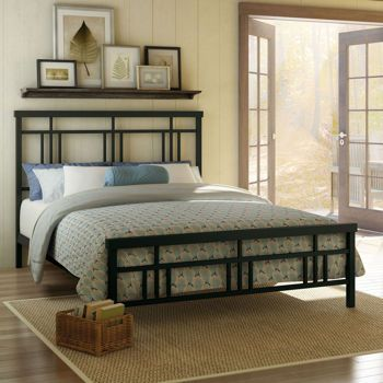 Costco: Cottage Queen Metal Bed in Dark Brown | Cozy Cottage | Pinterest