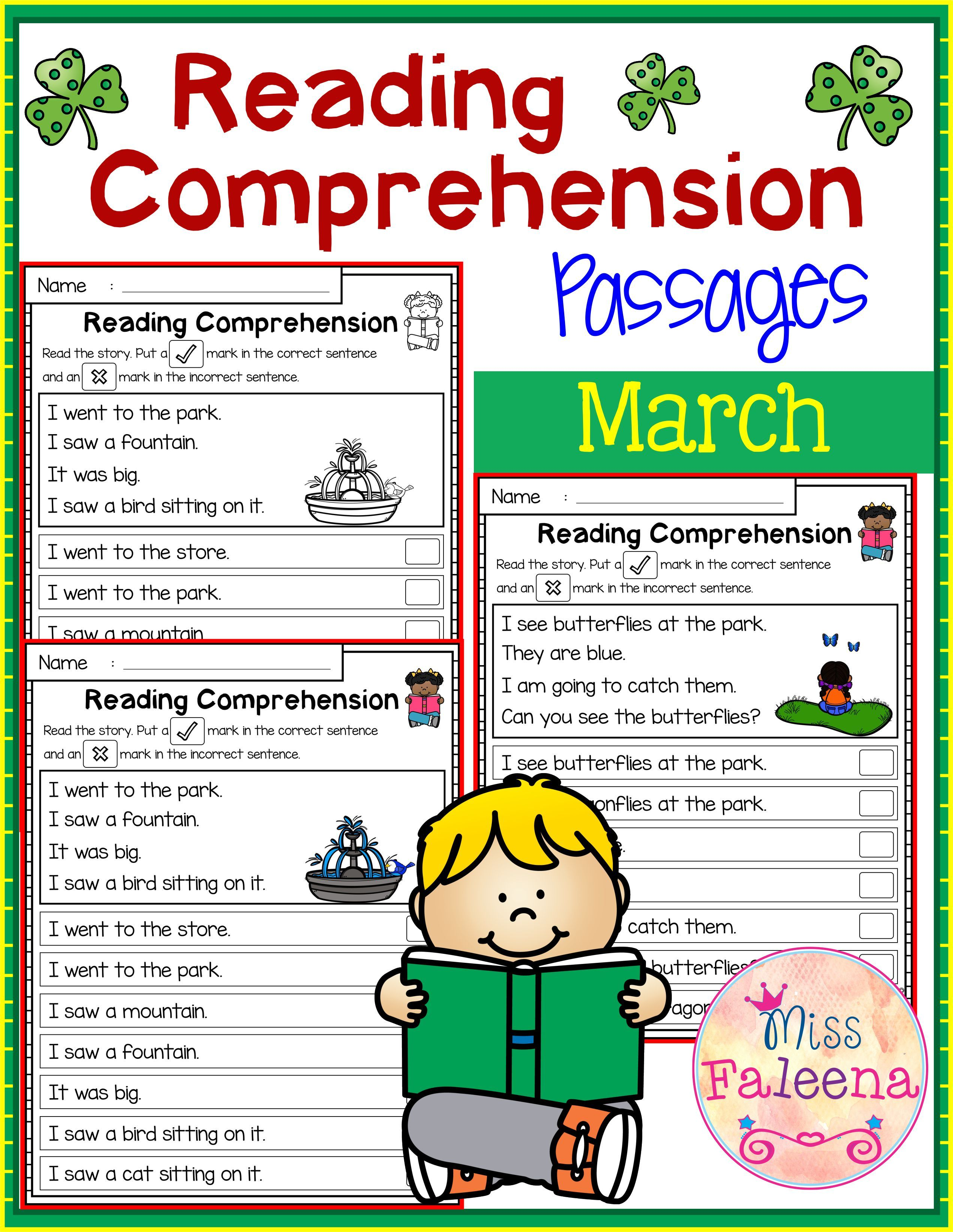March Reading Comprehension Passages Is Suitable For Kindergarten Students Or Reading Comprehension Reading Comprehension Passages March Reading Comprehension [ 3286 x 2542 Pixel ]