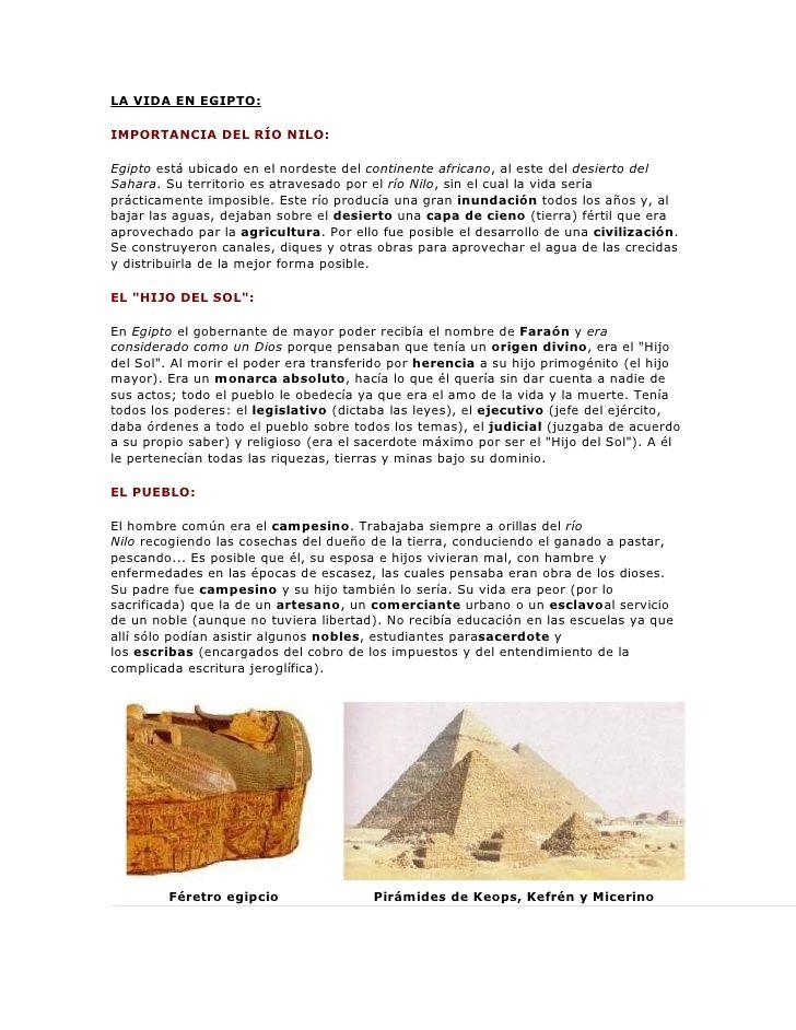 La Vida En Egipto Importancia Del Río Nilo Egipto Está Ubicado En El Nordeste Del Continente Africano Al Este Del Des Civilización Egipcia Civilizacion Egipto