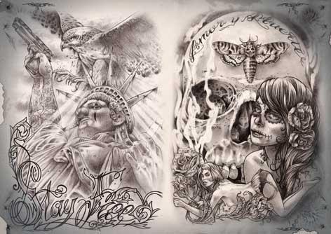 Lowrider Tattoo Flash | Chicano Tattoos on Chicano Tattoo Sketches ...