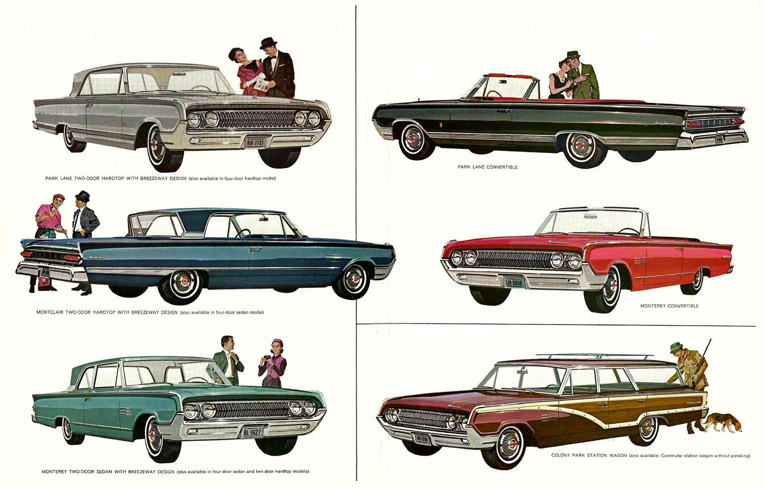 1964 mercury lineup mercury cars mercury ford motor