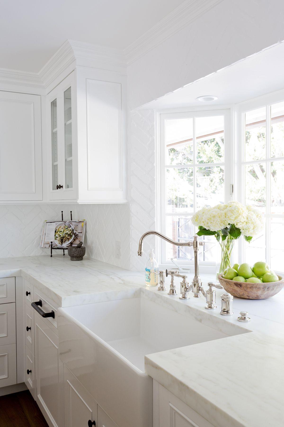 Kitchen sink window decor  bay window for plants  home sweet home  pinterest  window