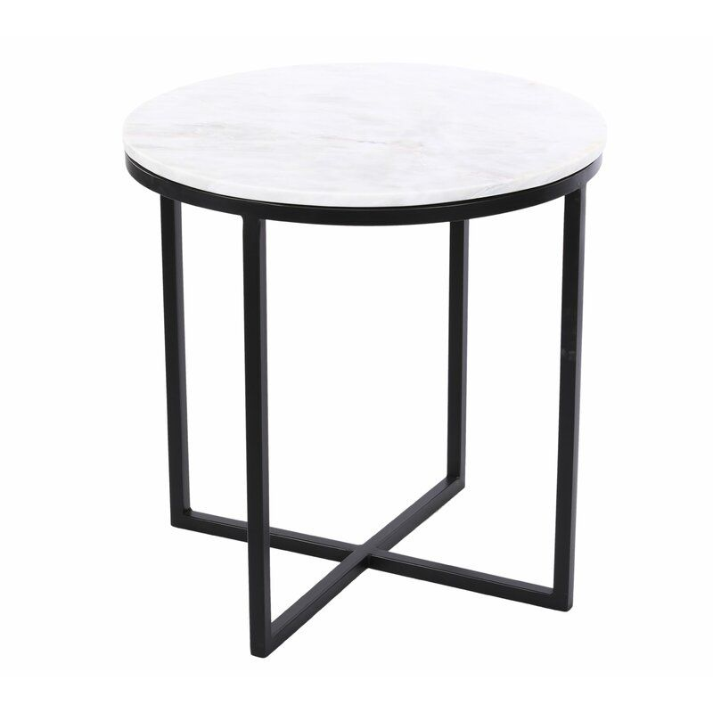 Brassfield End Table In 2020 Living Room Side Table Marble Top Side Table Marble End Tables
