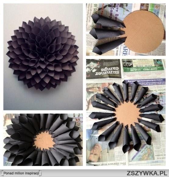 Papierowy Kwiat Na Pomysly Zszywka Pl Paper Crafts Paper Dahlia Diy Paper
