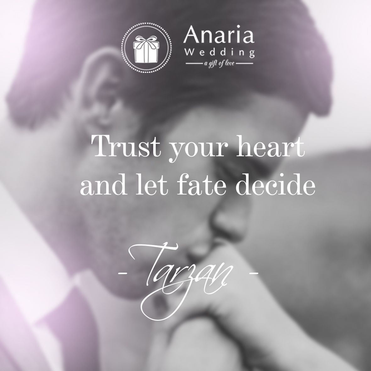 Trust your heart and let fate decide Tarzan quote life believe