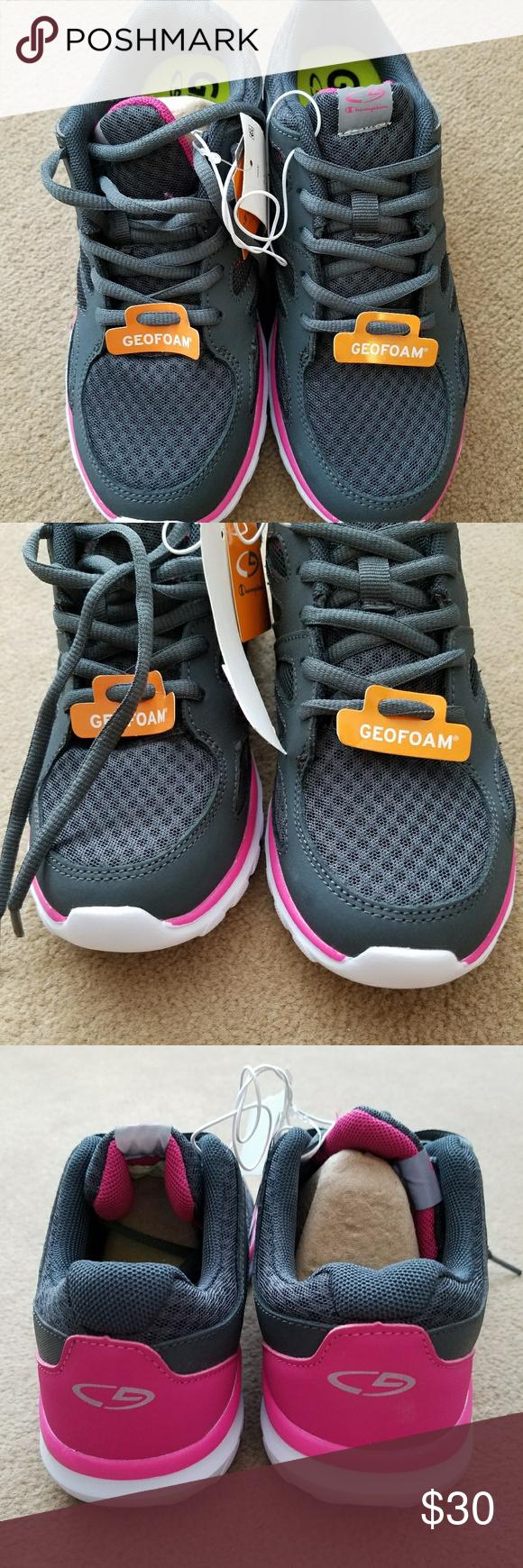 5cb9dc80c1bc76 Women s Champion Sneakers Grey Size 6.5 GeoFoam cushioning ...
