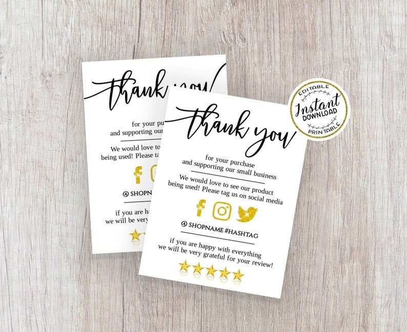Designstore7 24 I Will Design Amazon Thank You Card Product Insert Package Insert For 5 On Fiverr Com Business Thank You Cards Thank You Cards Personal Business Cards