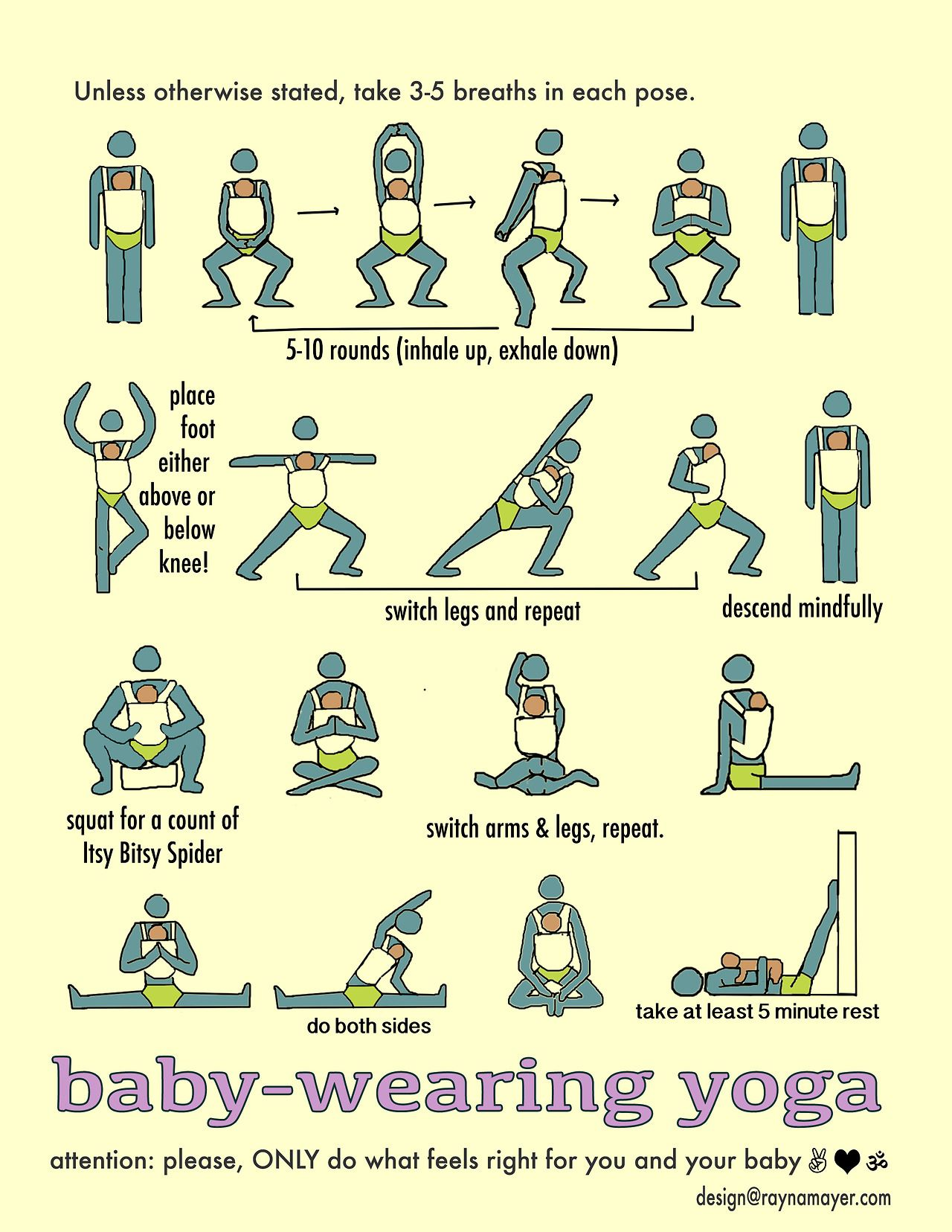 I love this chart, showing great yoga poses you can do ...