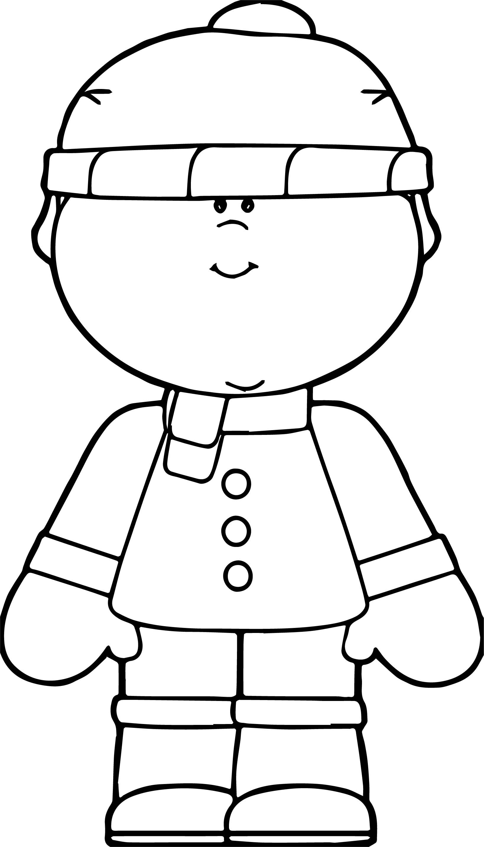 Awesome Snow Boy Coloring Page