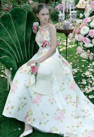 Свадебные платья с цветами | Платье на свадьбу, Бохо ...
