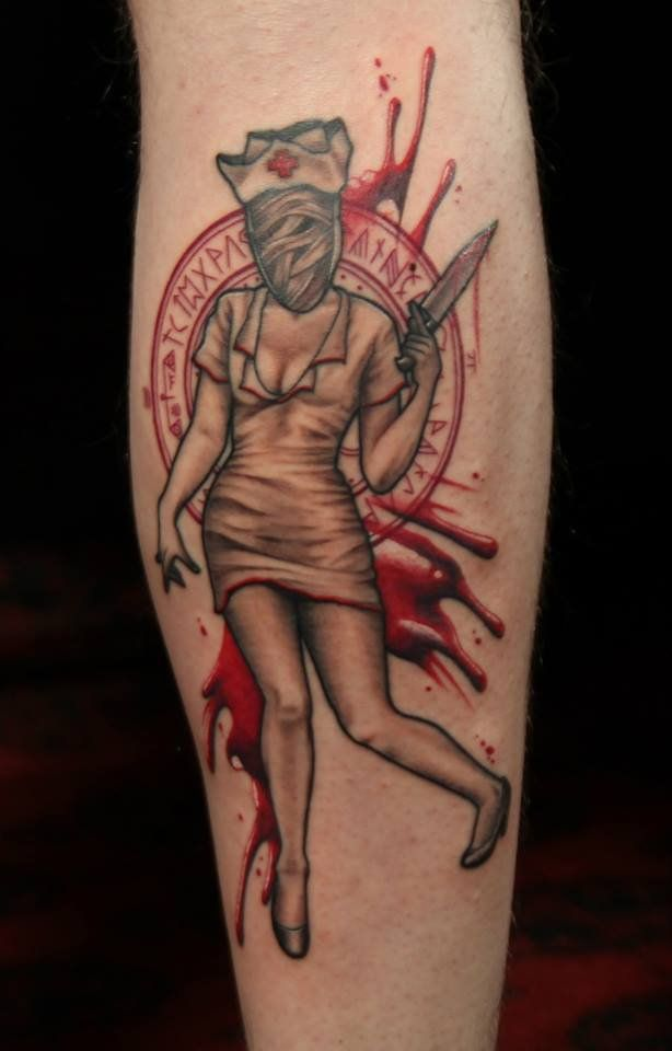silent hill nurse tattoo google search tattoos. Black Bedroom Furniture Sets. Home Design Ideas