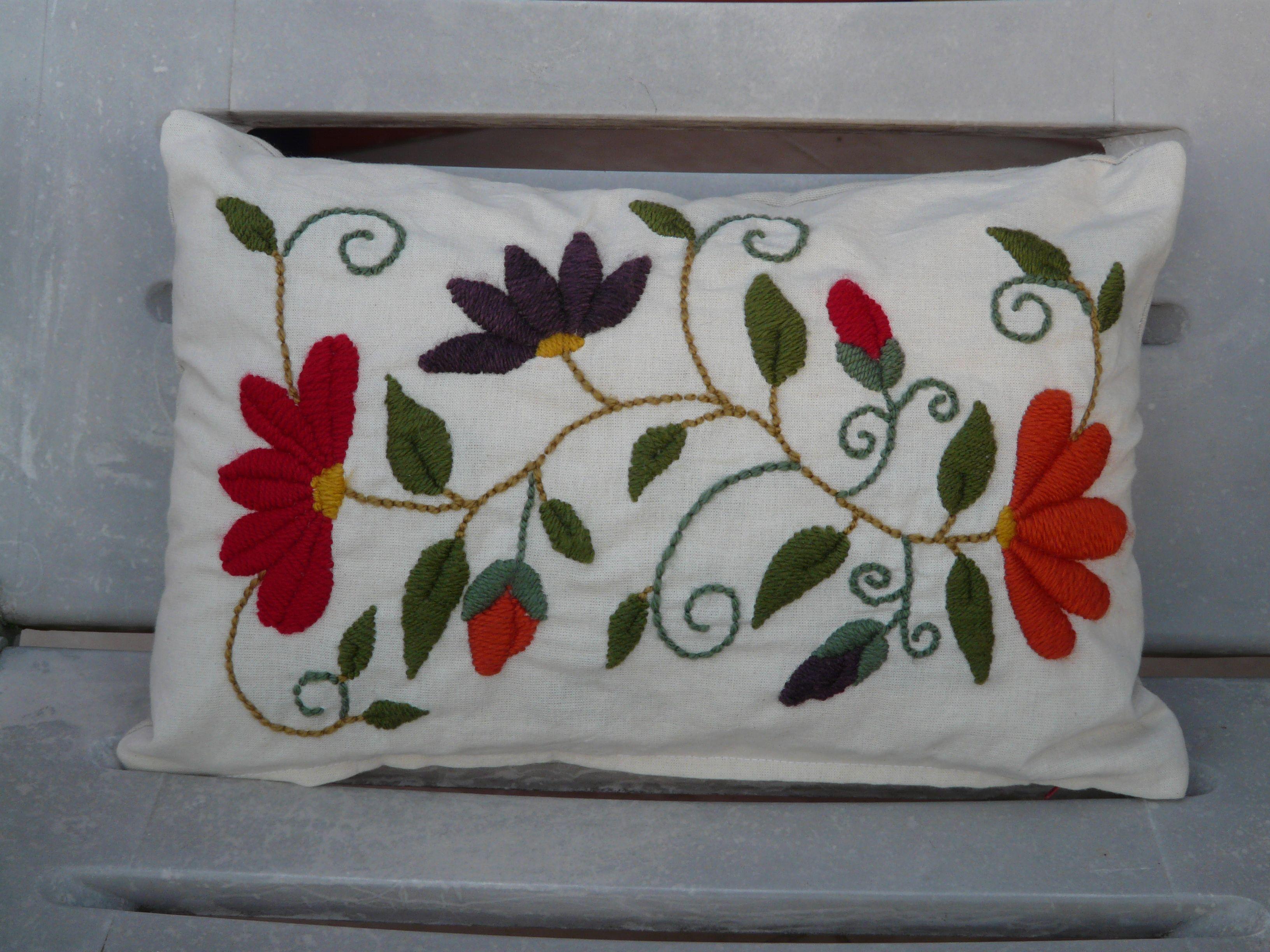 Alumnasnani bordado a mano almohadones pinterest embroidery