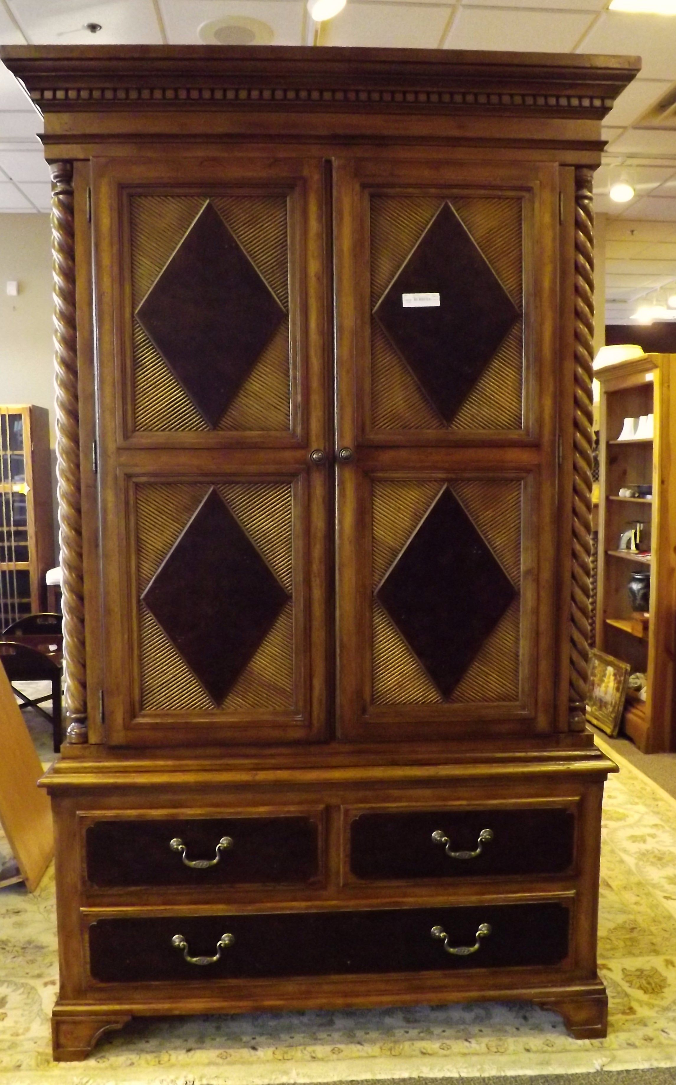 Alexander Julian At Home Armoire. Multipurpose Armoire Can Be Used For Clothing  Storage Or TV