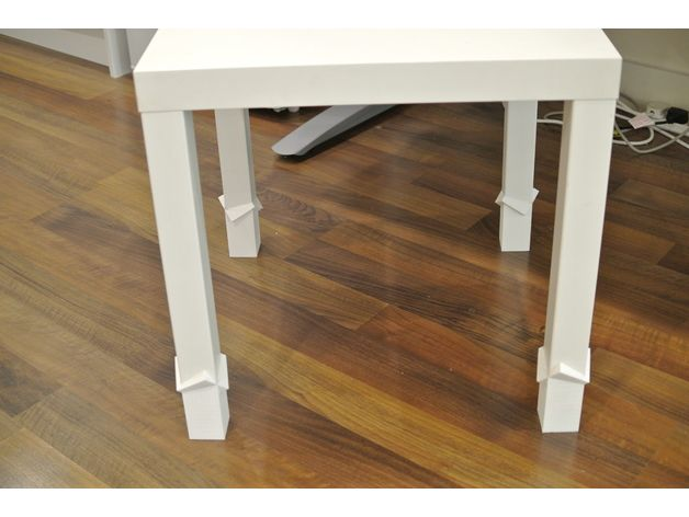 Lack Table Extender By Cheetahkid Thingiverse Diy Table Legs