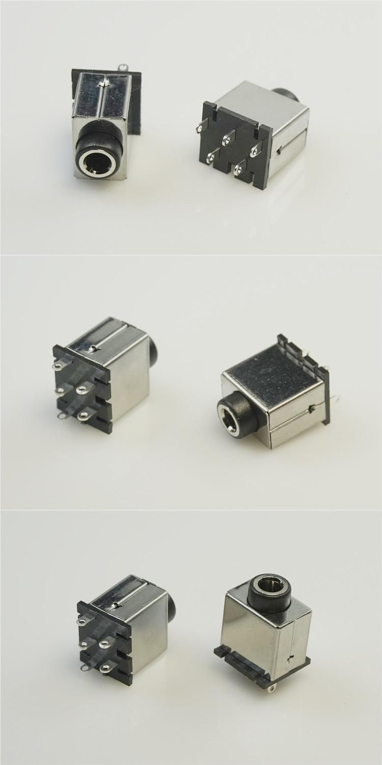 hight resolution of  visit to buy 2pcs vertical phone jack 3 5mm 5 contacts stereo socket 3 conductor notebook computer audio connector through hole shielded advertisement