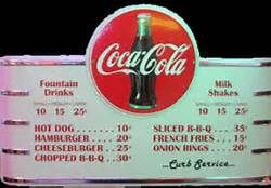Menu From the 1950s